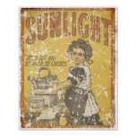 Sunlight Soap - 1873- distressed Posters