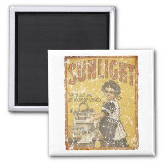 Sunlight Soap - 1873- distressed Square Magnet