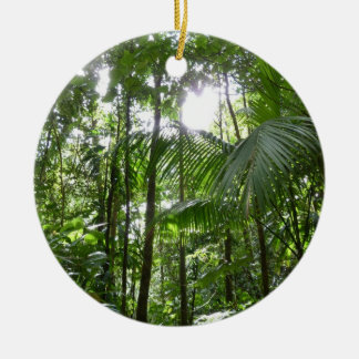 Sunlight Through Rainforest Canopy Tropical Green Christmas Ornament