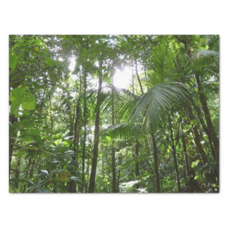 Sunlight Through Rainforest Canopy Tropical Green Tissue Paper