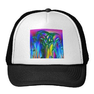 Sunlight through the grass mesh hats