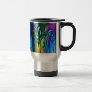 Sunlight through the grass coffee mug