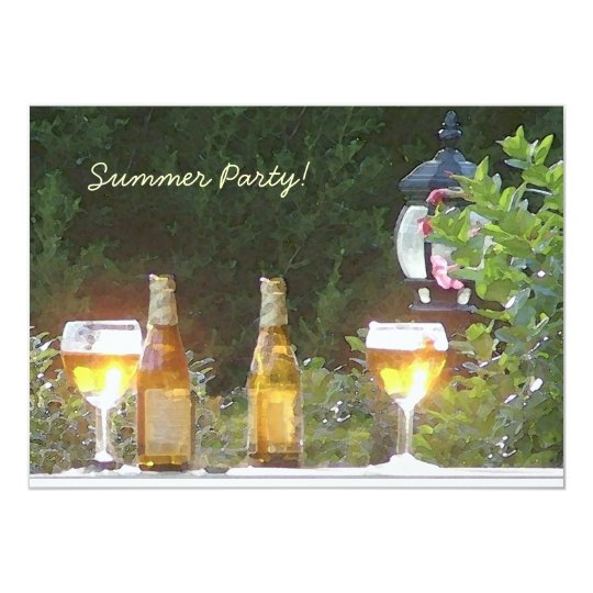 Sunlit beer party invitation