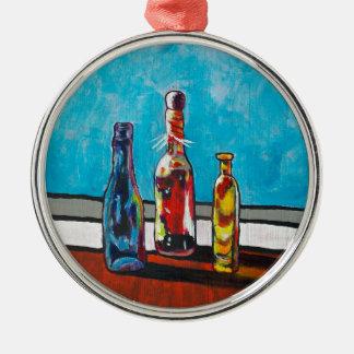 Sunlit Bottles Christmas Ornament