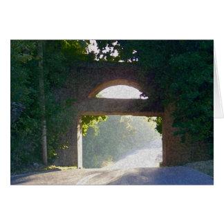 Sunlit Bridge Greeting Card