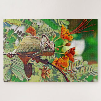 Sunlit Chameleon Jigsaw Puzzle
