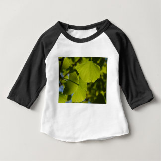 Sunlit Ginkgo Leaves Baby T-Shirt