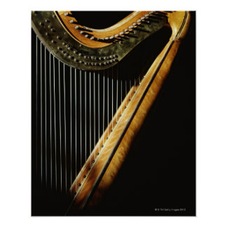 Sunlit Harp Poster