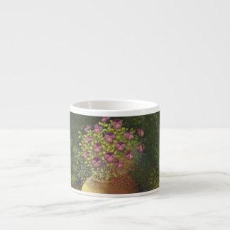Sunlit Pansies and Lobelia in Pot Espresso Mug