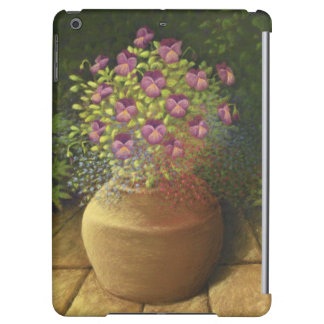 Sunlit Pansies and Lobelia in Pot iPad Air Case