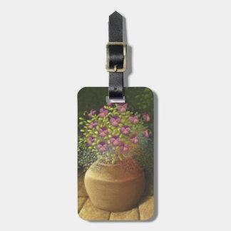 Sunlit Pansies & Lobelia in Pot Luggage Tag