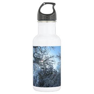 Sunlit Snowy Trees Starburst Blue Sky Winter 532 Ml Water Bottle