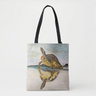 Sunning Turtle Tote Bag