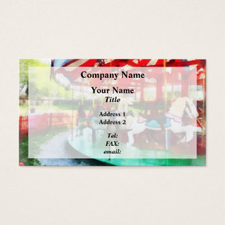 Sunny Afternoon on the Carousel Business Card