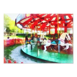 Sunny Afternoon on the Carousel Custom Invite