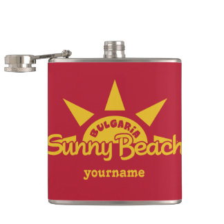 Sunny Beach BULGARIA custom monogram flasks