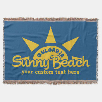 Sunny Beach BULGARIA custom text & color blanket