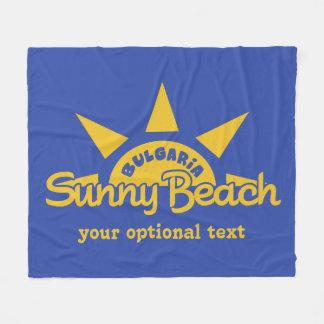 Sunny Beach BULGARIA custom text & color fleeces Fleece Blanket