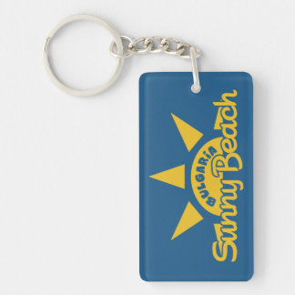 Sunny Beach BULGARIA custom text & color key chain