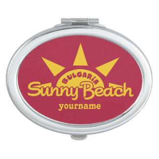 Sunny Beach BULGARIA custom text & color mirror