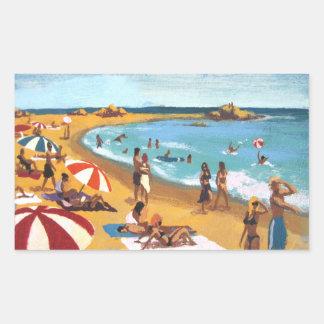 Sunny beach in Catalonia Rectangular Sticker