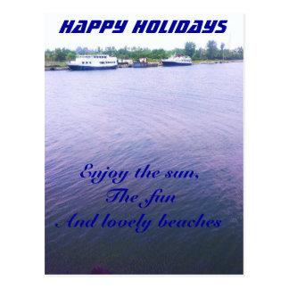 Sunny Beaches holidays Postcard
