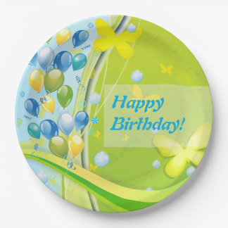Sunny Birthday 9 Inch Paper Plate