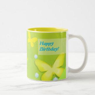 Sunny Birthday Two-Tone Coffee Mug