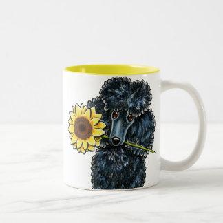 Sunny Black Miniature Poodle Two-Tone Mug
