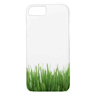 Sunny bright green grass earth photograph iPhone 7 case