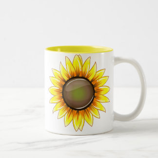 Sunny Bright Sunflower Two-Tone Mug