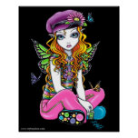 """Sunny"" Candied Butterfly Rainbow Fairy Posters"