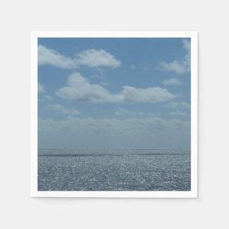 Sunny Caribbean Sea Blue Ocean Disposable Napkin