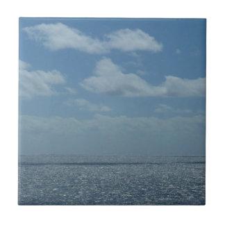 Sunny Caribbean Sea Tile