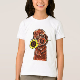 Sunny Chocolate Labradoodle Off-Leash Art™ T-Shirt