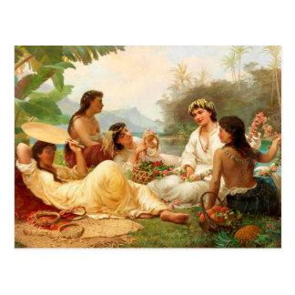 'Sunny Clime, Tahiti' - Nicholas Chevalier Postcard