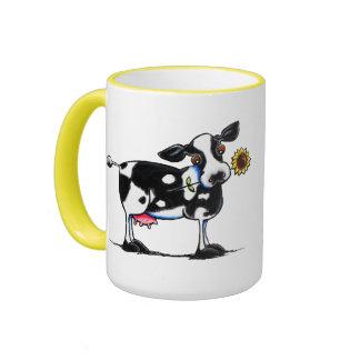 Sunny Cow Ringer Mug
