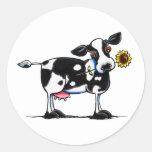 Sunny Cow Round Sticker