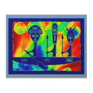 """SUNNY CRUISE"" 10 x 8 PRIMITIVE AFRICAN WOOD ART Wood Print"