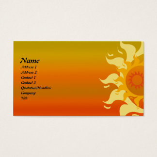 Sunny Day Abstract Art Business Card