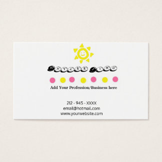 Sunny Day Business Card with a Smile in the Back
