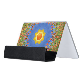 Sunny Day Colorful Desk Business Card Holder