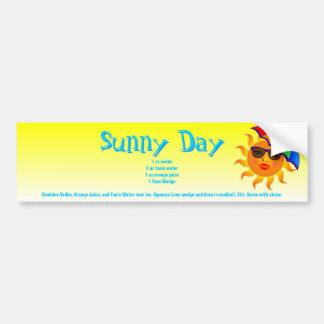 Sunny Day Drink Recipe Bumper Sticker