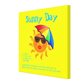 Sunny Day Drink Recipe Stretched Canvas Prints