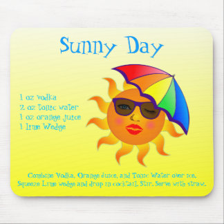 Sunny Day Drink Recipe Mouse Pad
