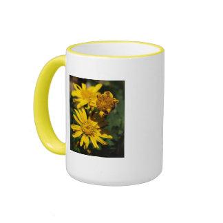 Sunny Day Flowers Ringer Mug