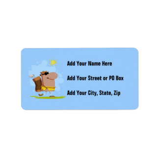 Sunny Day Golf - African American Address Label