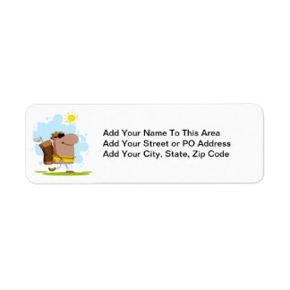 Sunny Day Golf - African American Return Address Label