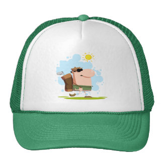 Sunny Day Golf - White Golfer T-shirts and Gifts Cap
