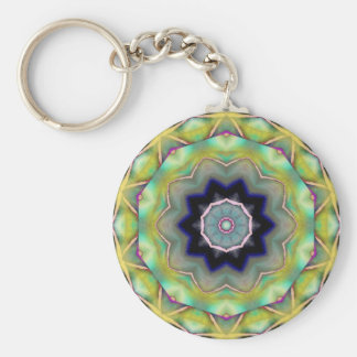 Sunny Day In Vagas Basic Round Button Key Ring